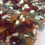 Cranberry Seed Flapjack
