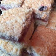 Raspberry & Coconut Square